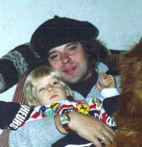 Женя Белоусов с сыном