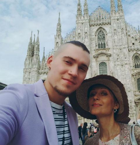 Ольга с сыном Антоном