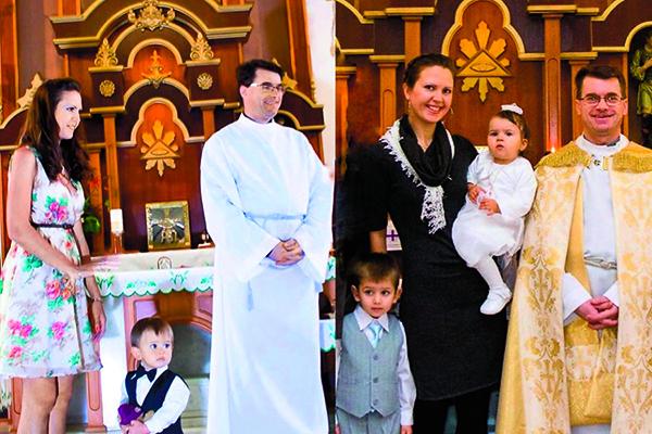 Детей крестили в католической церкви в Тюмени