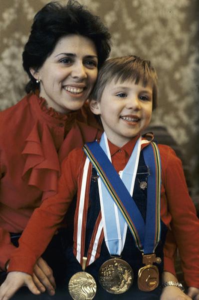 Ирина Роднина с сыном