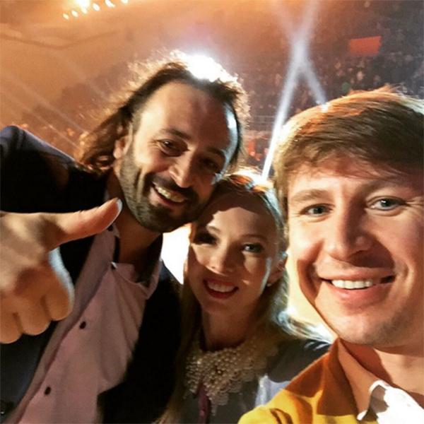 Илья Авербух с Татьяной Тотьмяниной и Алексеем Ягудиным накануне свадьбы