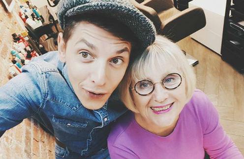 Влад Лисовец с мамой