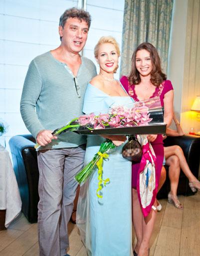 Борис Немцов, Екатерина Одинцова и дочь политика Жанна Немцова