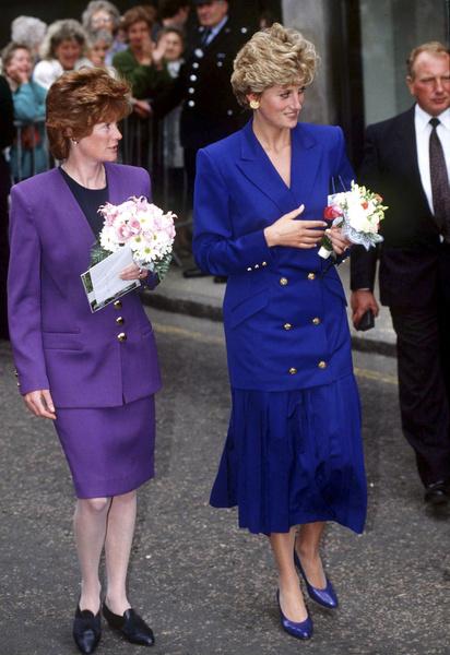 Принцесса Дианой  во время ее визита в Ноттингем в 1992 году