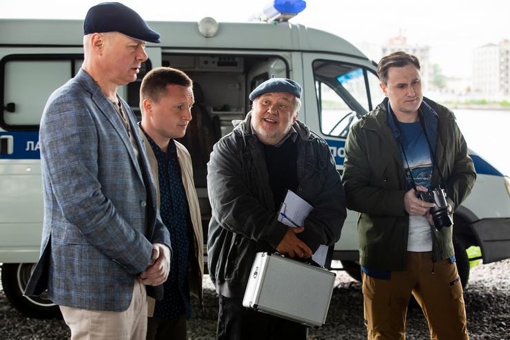 Андрей Шарков на съемках сериала «Тайны следствия»