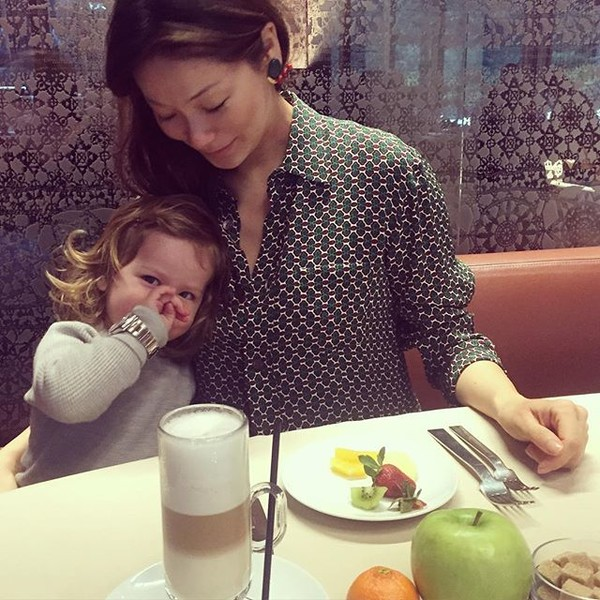 Марина Ким с дочкой Брианой