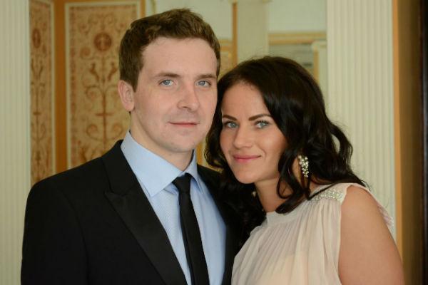 Актер с любимой супругой