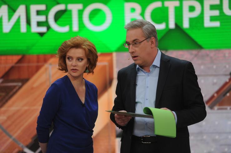 В 2016-м Андрей Владимирович начал вести с Ольгой Беловой передачу «Место встречи»