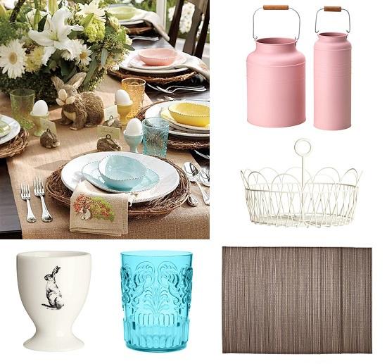 Декоративные бидоны IKEA, Корзина и подставка для яйца H&M Home, Стакан и бамбуковая салфетка Zara Home