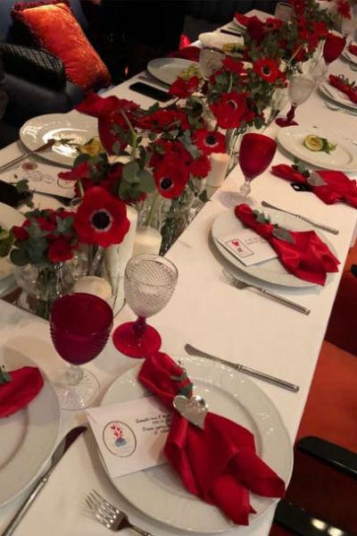 Вечеринка в честь Стеши была устроена в красных тонах