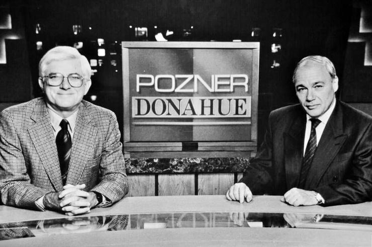 В 90-х Владимир Познер вел шоу с Филом Донахью