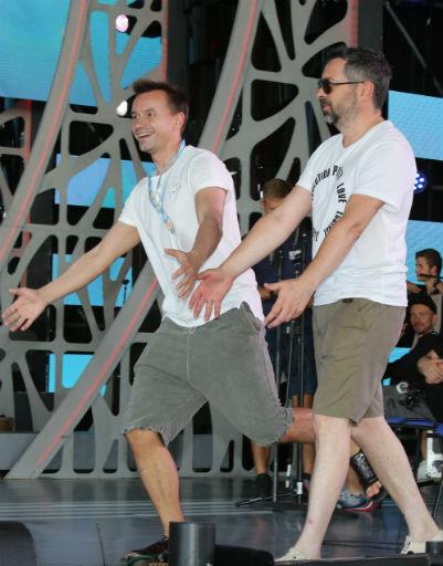 Участники группы «Дискотека авария» Алексей Рыжов и Алексей Серов
