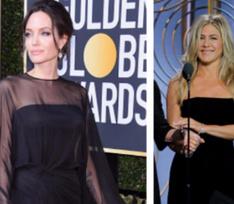 Дамы в черном: Джоли и Энистон поспорили за звание самой элегантной жены Питта