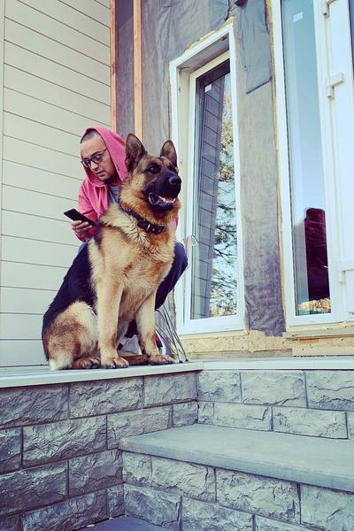 Вчера овчарка рэпера напала на соседскую собаку, а он даже не попытался разнять животных