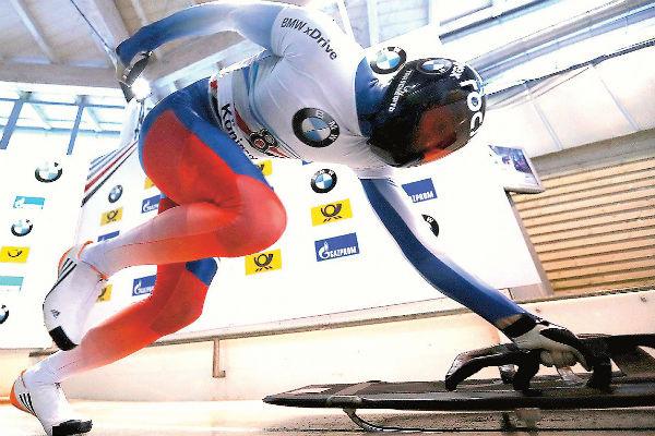 Александр Третьяков в 2014 году стал первым в истории скелетона России олимпийским чемпионом