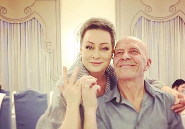 Аронова с мужем Евгением Фоминым
