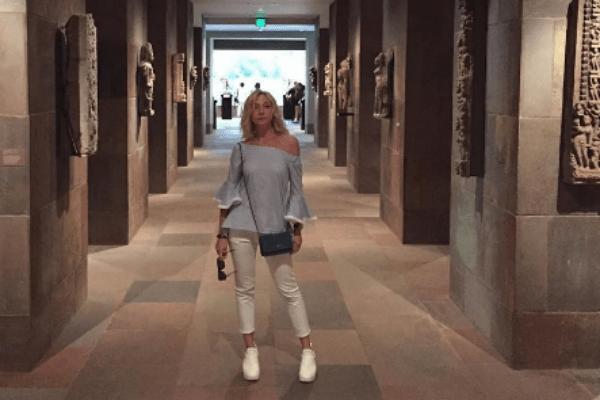 Кристина Орбакайте в музее Нортона Саймона