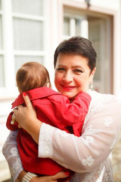Ирина Виторган с маленькой дочерью