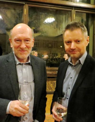 Генеральный продюсер канала RTVi Алексей Пивоваров с известным политиком Александром Волошиным