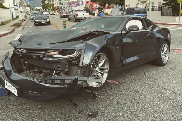 Автомобиль Макса Барских пострадал в ДТП