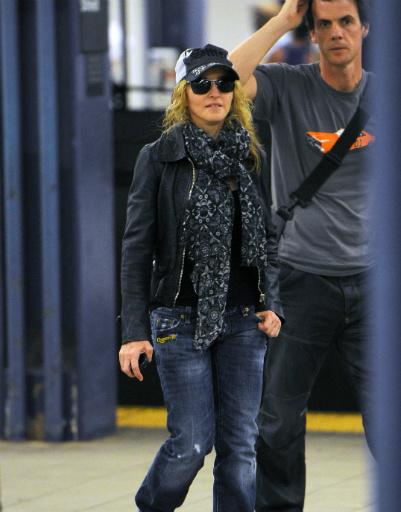Поп-королева Мадонна тоже была замечена в подземке
