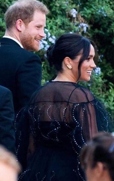 Принц Гарри и Меган Маркл на свадьбе Миши Нону и Майкла Хесса