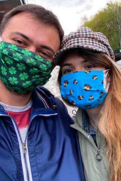 Свадьба влюбленных проходила в условиях пандемии