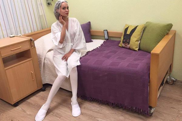 Анна Калашникова перед проходом в операционную