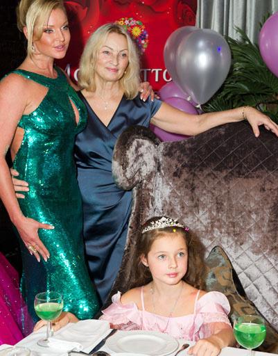 Семья в сборе: Ананстасия Волочкова с дочерью и мамой