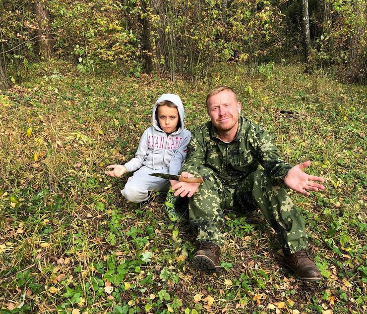 Антон Богданов с сыном