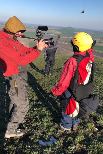 Инструктор уговорила Бадоеву прягуть с горы. И это могло закончиться плачевно