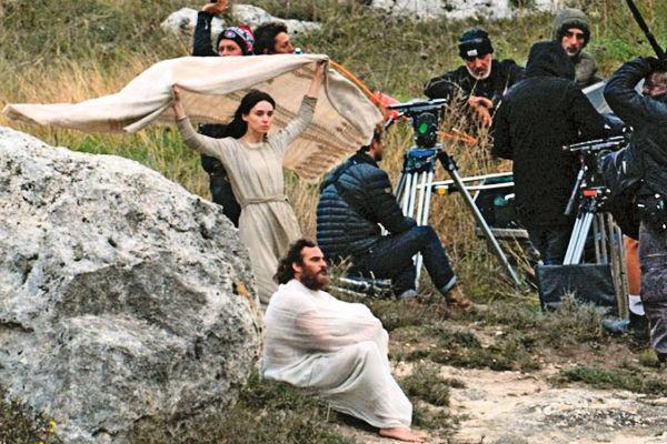 Пара на съемках «Марии Магдалины»