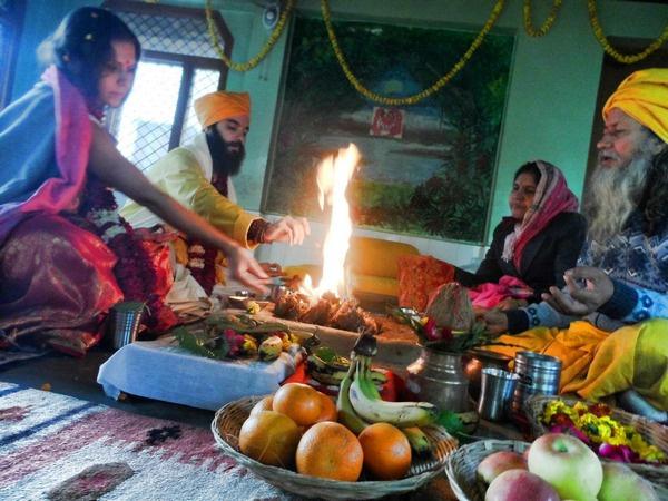 Свадьба астролога проходила в Индии