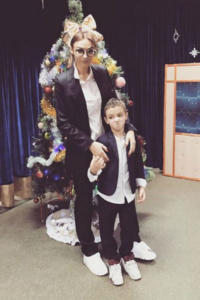 С сыном Богданом от первого брака