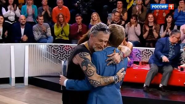 В финале программы мужчины обнялись в знак примирения