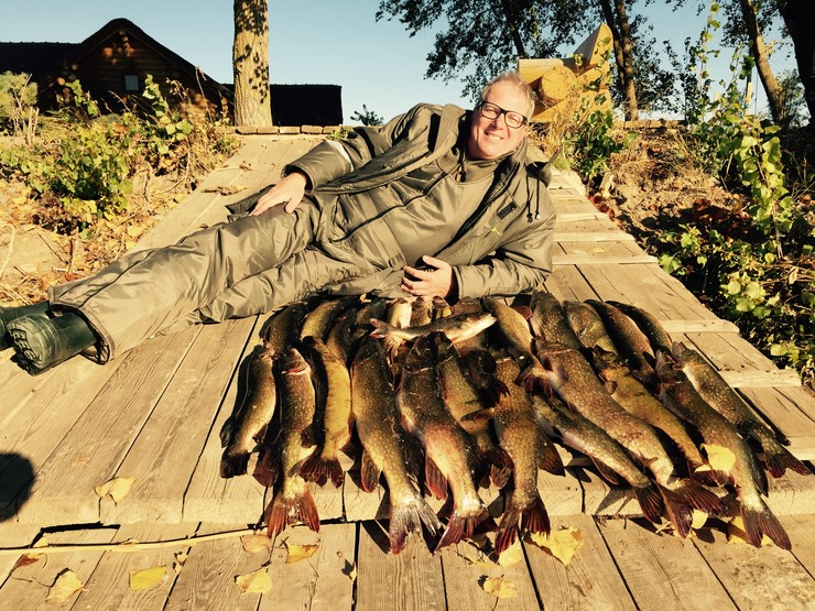 Алексей Лысенков на рыбалке
