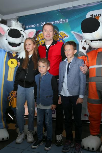 Миронов с племянниками и сыном