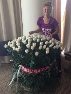 Анна Шульгина пришла в восторг от букета