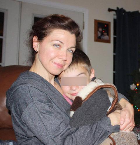 Наталья Морозова с сыном Даниилом