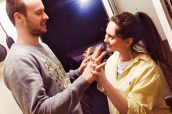 Анна Руднева и Дмитрий Белин познакомились на студии звукозаписи