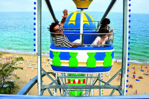 Алла-Виктория и Мартин даже не испугались высоты