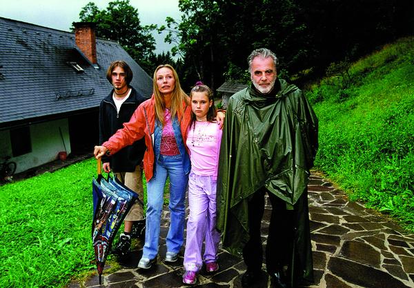 С детьми и вторым мужем Максимилианом Шеллом