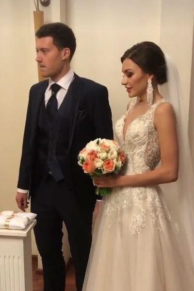 Николай и Татьяна произнесли клятвы верности в одном из московских загсов