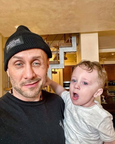 Александр Липовой с сыном