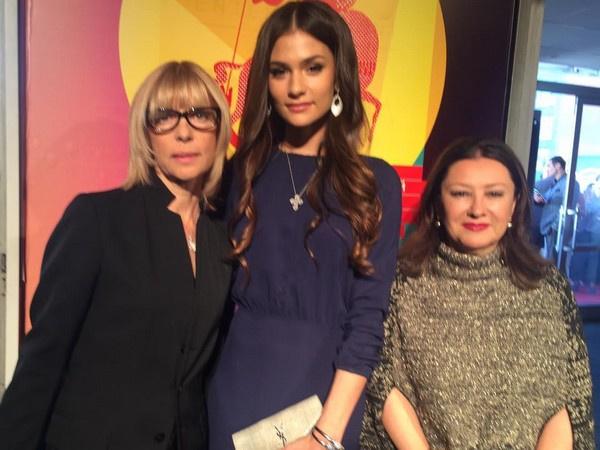 Вера Глаголева с дочерью Анастасией Шубской и Натальей Ивановой