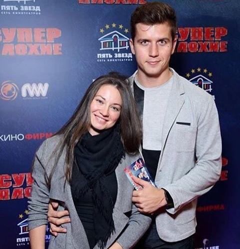 Денис Косяков с супругой Еленой