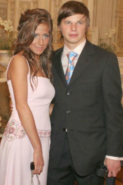 Андрей Аршавин с первой женой Юлией Барановской