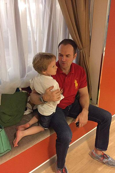 Сергей Жорин с сыном Даниилом