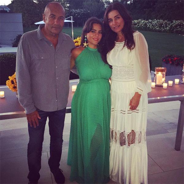 Вика Крутая с родителями Игорем и Ольгой Крутыми в день своего 30-летия