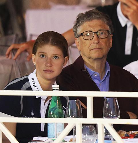 Билл Гейтс с дочерью
